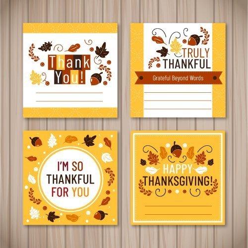 Thanksgiving 4 biglietti semplici ringraziamento gratis