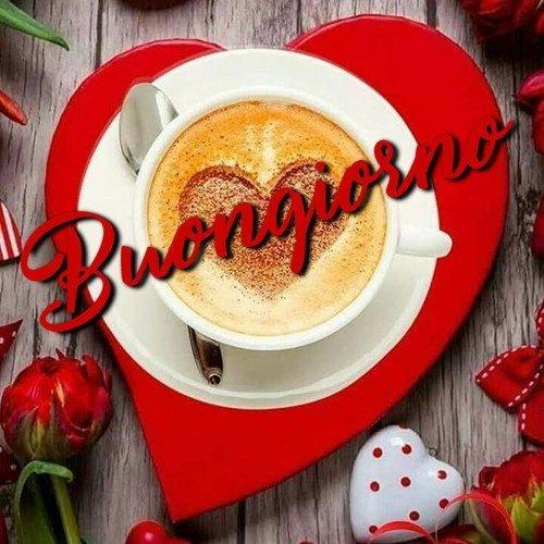 BUONGIORNO caffè cuore immagini nuove gratis whatsapp