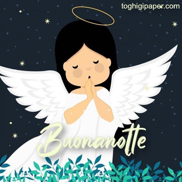 buona notte angeli immagini gratis WhatsApp nuove bacionotte dolci sogni