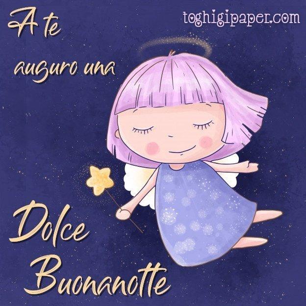 buonanotte angioletti immagini nuove gratis WhatsApp Facebook bacionotte dolci sogni