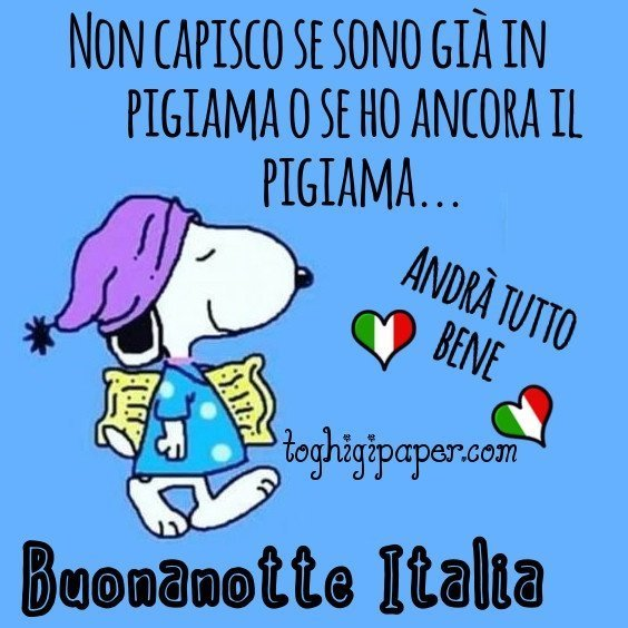 buona notte Italia andrà tutto bene immagini gratis WhatsApp nuove bacionotte dolci sogni