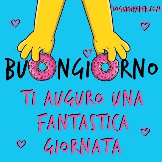 buongiorno ciambella Simpson immagini nuove gratis whatsapp facebook