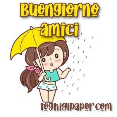 Buongiorno pioggia immagini nuove gratis whatsapp facebook Instagram Pinterest