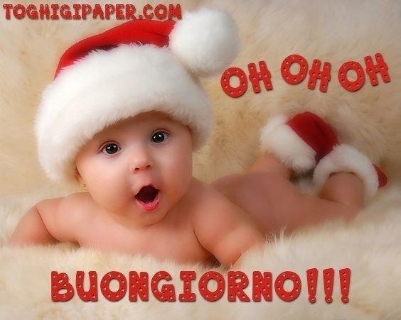 Natale BAMBINO buongiorno immagini gratis per Facebook, WhatsApp, Instagram e Pinterest