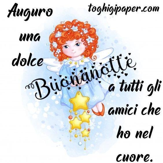 Buonanotte angeli immagini gratis WhatsApp nuove bacionotte dolci sogni per WhatsApp, Facebook, Pinterest, Instagram, Twitter