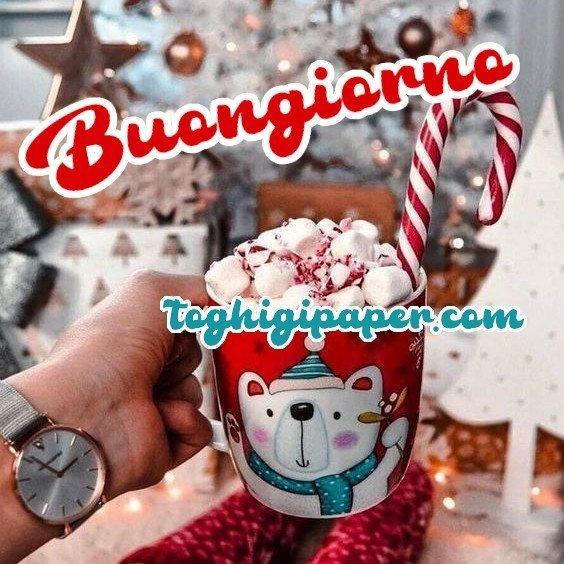Caffè buongiorno Natale nuove immagini gratis WhatsApp, Facebook, Instagram, Pinterest, Twitter