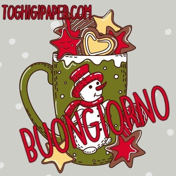 Caffè buongiorno natalizio nuove immagini gratis WhatsApp, Facebook, Instagram, Pinterest, Twitter