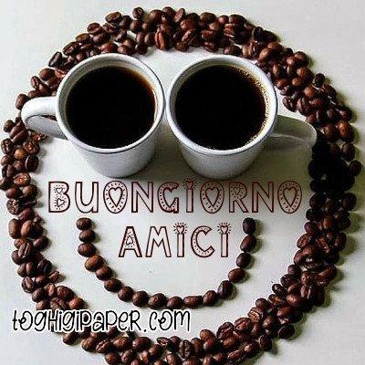 Buongiorno caffè buona giornata immagini gratis WhatsApp, Facebook belle e nuove