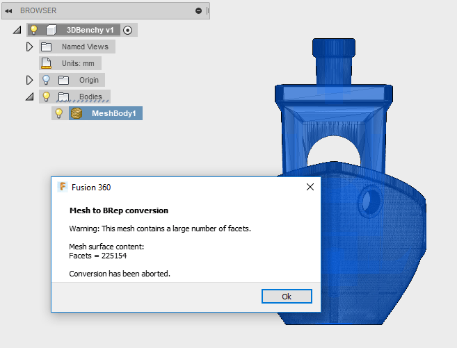 Convert a Simple STL into a Body in Fusion 360 | Toglefritz's Lair