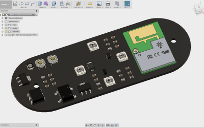Create a Fusion 360 Model from an Eagle BRD File