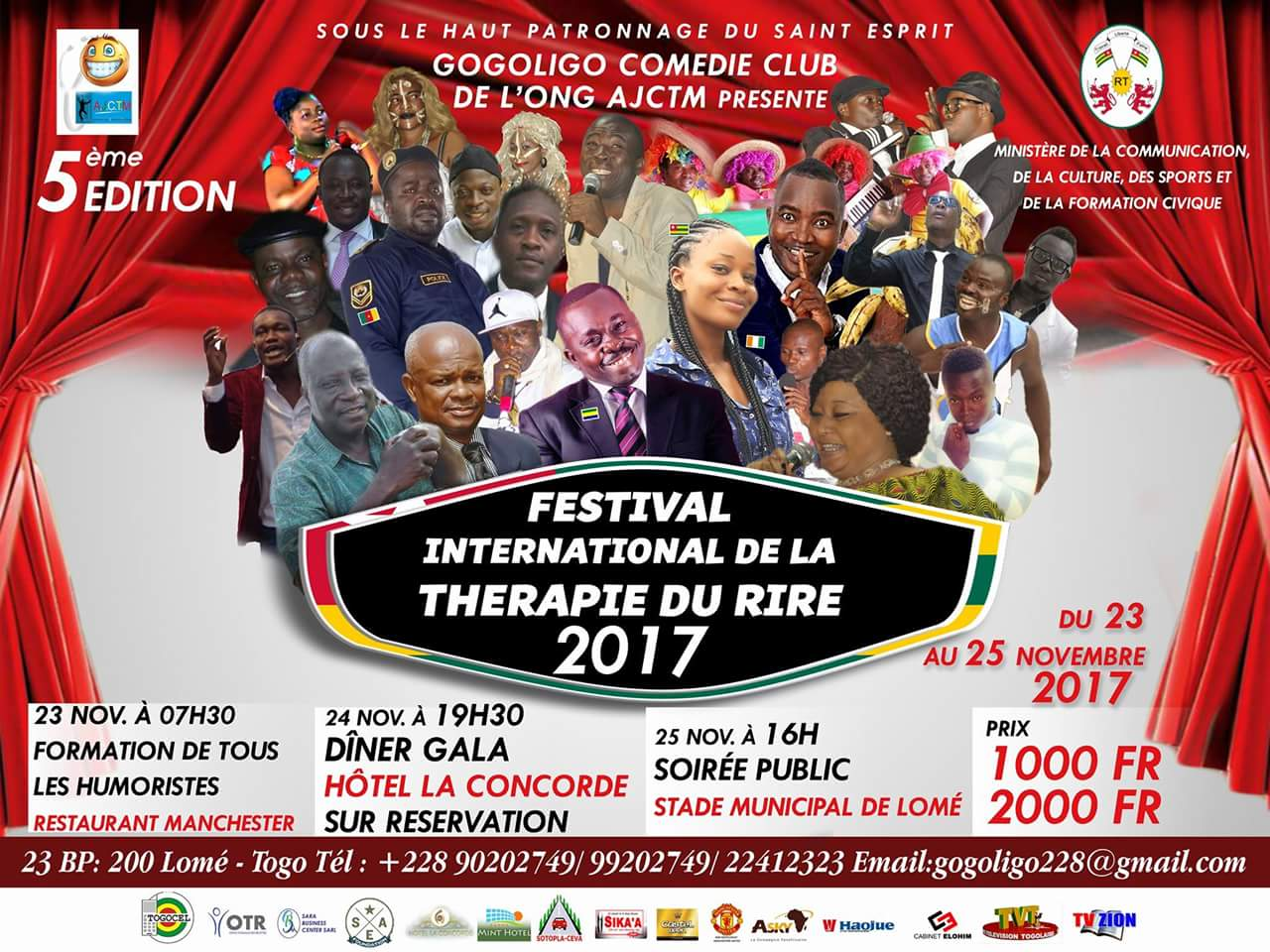 FB IMG 1511680129700 Boudé par le public togolais, Gogoligo annule son spectacle