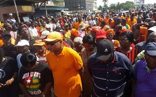 854198 2 Togo: une forte mobilisation dans les rues ce samedi