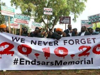 End SARS Memorial nouvelles manifestations un an apres le massacre de Lagos « End SARS Memorial » : nouvelles manifestations un an après le massacre de Lagos