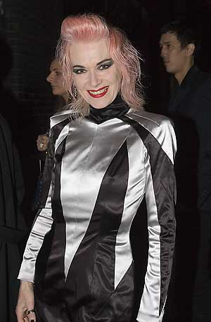 Designer/Singer Pam Hogg arrives at Doubles Night Club Opening