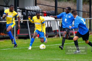 15/10/2016. Colliers Wood United v Guildford City. City's Darryl SIAW & Kyle MARTIN