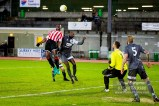 19/11/2016. Guildford City Football Club v CB Hounslow. City 3-0 winners. Mario EMBALO leaps highest