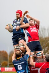 19/11/2016. Guildford City Rugby Club V Westcombe Park Rugby Club. Rob Mitchell in the line-out