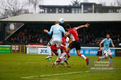 01/01/2017. Woking FC v Aldershot Town FC. New Years Day. Scott RENDELL scores