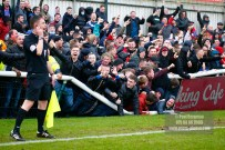 01/01/2017. Woking FC v Aldershot Town FC. New Years Day. Aldershot Fans