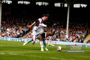 17/04/2017. Fulham FC v Aston Villa. Match Action. FulhamÕs Ryam SESSEGNON