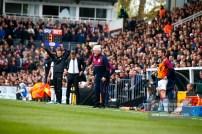 17/04/2017. Fulham FC v Aston Villa. Match Action.