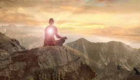 Reaching enlightenment on mountain top
