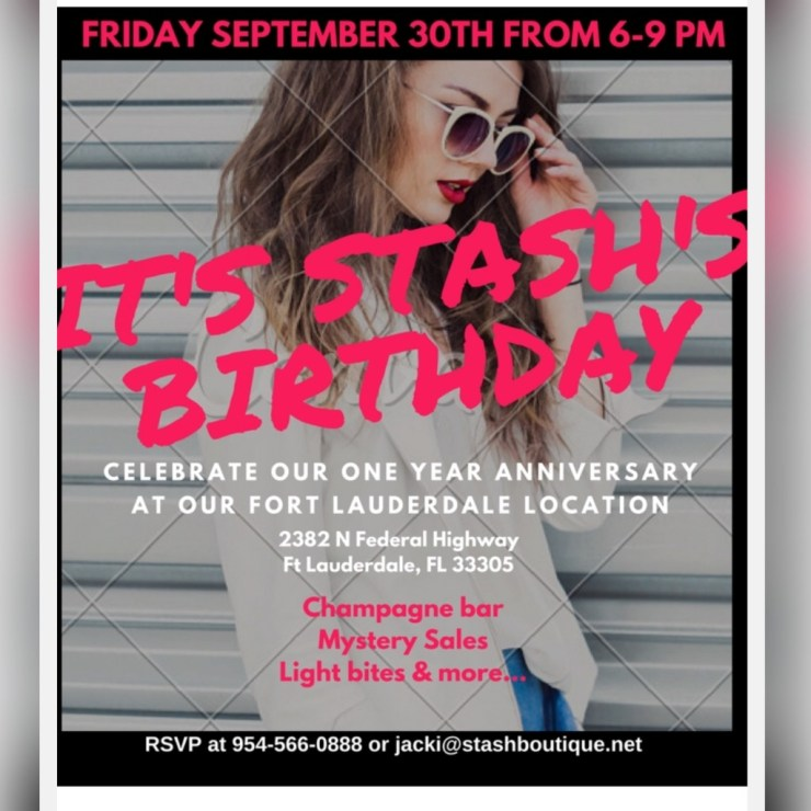 Stash Boutique Anniversary Party