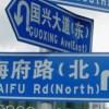 中国のどうしたらいいのかわからない道しるべ