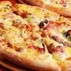 中国のピッツァの誇大広告写真