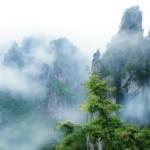 中国の仙人がいそうな場所の記念写真