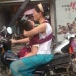 中国でバイクに子供を乗せる時の方法いろいろ
