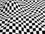 目の錯覚効果を利用した衣料品が紹介されてました。