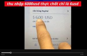 [cảnh báo] '6 tháng' kiếm tiền trên mạng thu nhập '6usd'