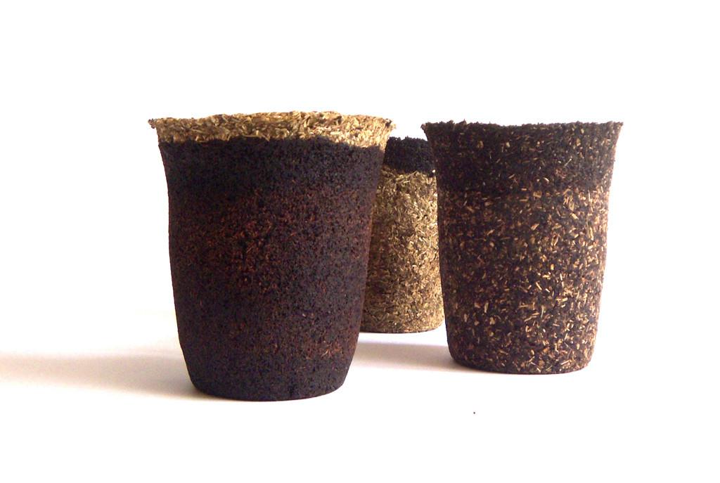 disposable tea cups/ Einat kirschner and Einav Ben-Asher
