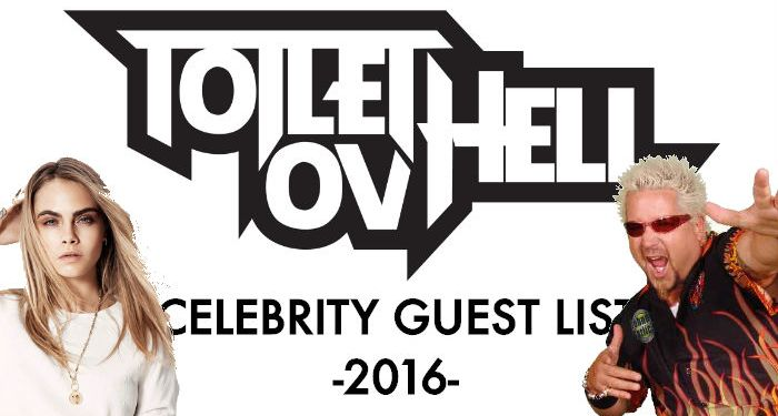 AOTY 2016 as chosen by our CELEBRITY GUESTS – The Toilet Ov Hell