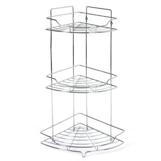 etagere de douche ou baignoire en metal 3 niveaux 25 x 56 cm