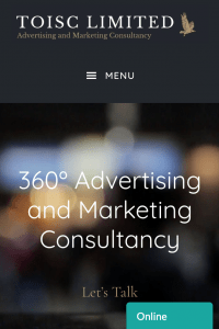 Above the Fold, Welcome, Website Design, Themes, Toisc Limited, Mobile View