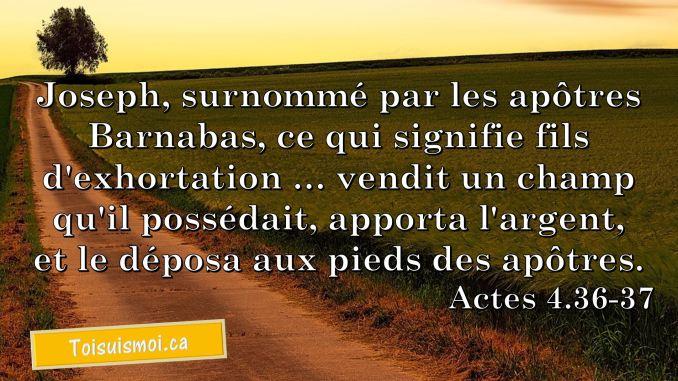 Actes 4.36-37