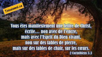 2 Corinthiens 3.3