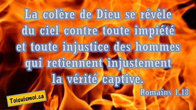 Romains 1.18