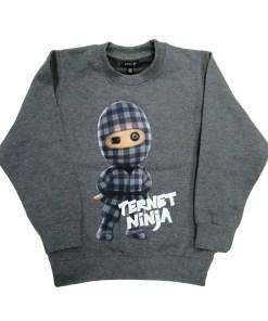 Kids Up Ternet Ninja Sweatshirt Grey