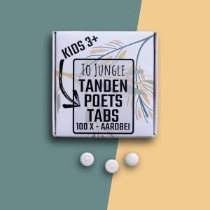 Tandenpoets-tabs ZONDER fluor kids aardbei