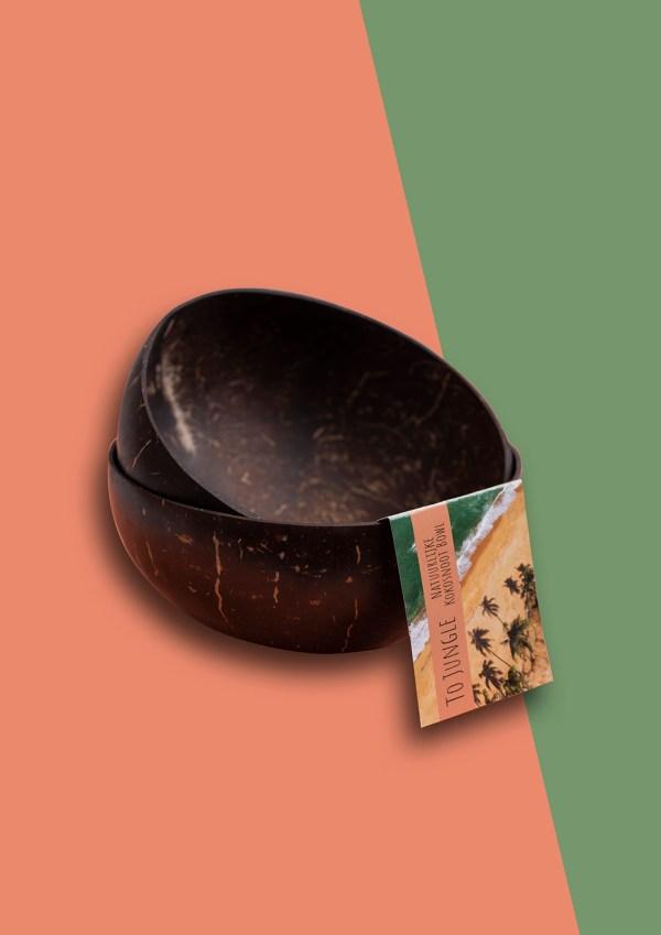 100% natuurlijke kokosnoot schaaltje Jungle Bowl . plasticvrij