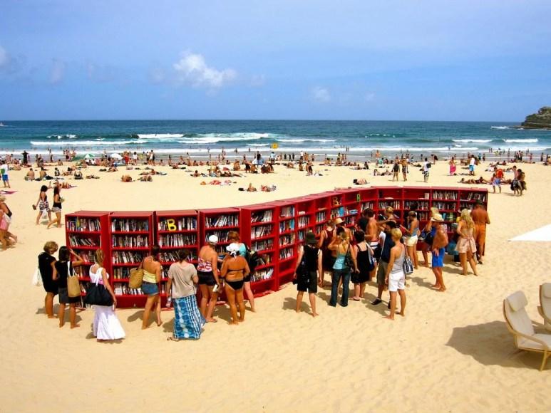 playa con biblioteca en Australia Bondi beach