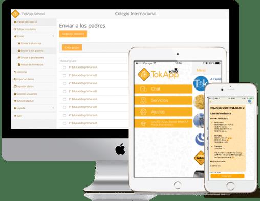 Aplicación para celulares y plataforma web de comunicación para instituciones educativas
