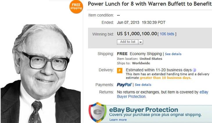 уоррен баффетт на ebay
