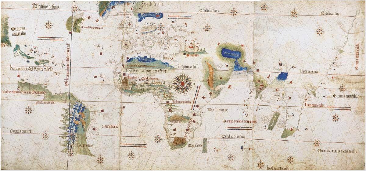 Планісфера Кантіно (1502), найдавніша зі збережених португальських навігаційних карт.