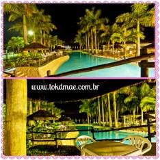 Área piscina - noite