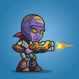 Alien Boss - 2D Character Sprite