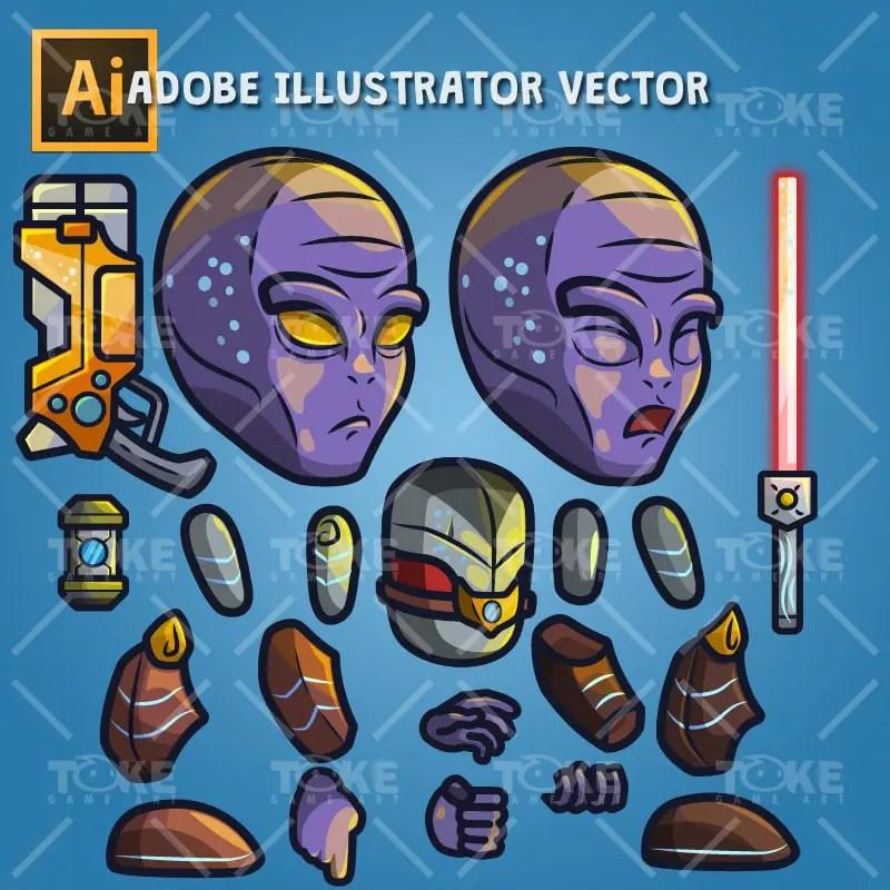 Alien Boss - Adobe Illustrator Vector Art Based